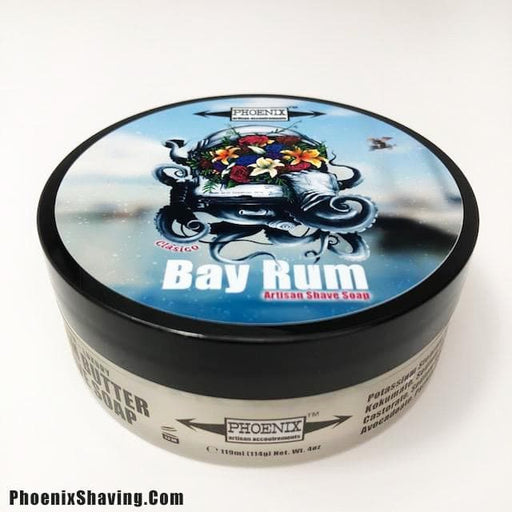 Clásico Bay Rum Artisan Shave Soap - Made w/ Essential Oils & NO CLOVE! - Phoenix Artisan Accoutrements
