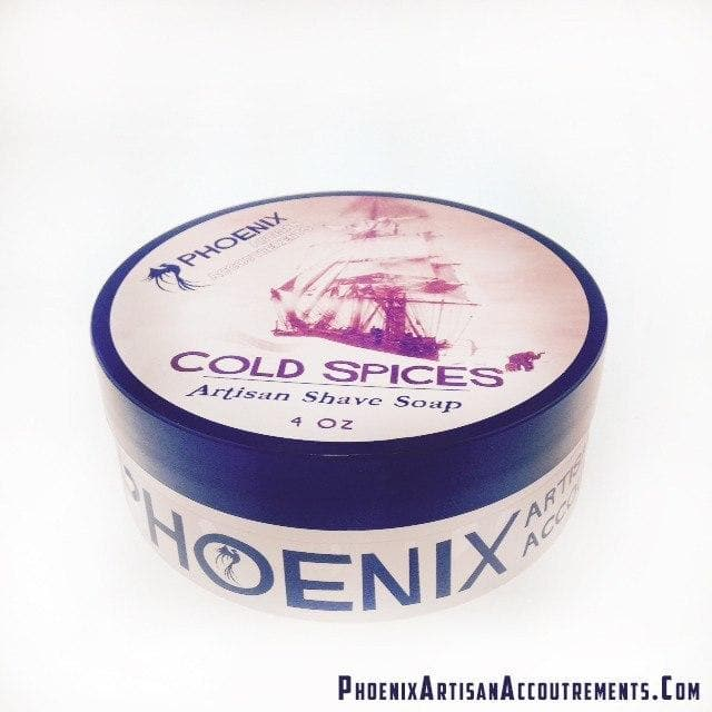 Cold Spices Artisan Shave Soap - Lightly Mentholated - Homage to Old Spice - Phoenix Artisan Accoutrements