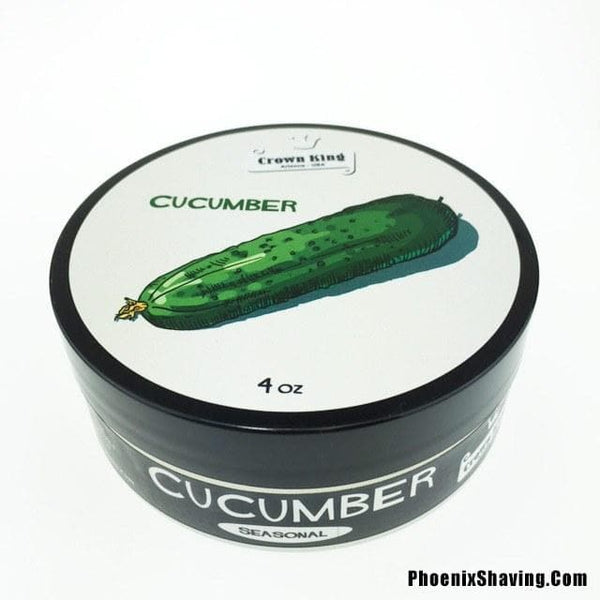 Cucumber Artisan Shaving Soap - Refreshing Summer Cucumber in Crown King Formula - Phoenix Artisan Accoutrements - 1
