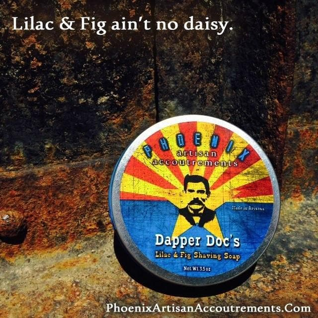 Dapper Doc's Lilac & Fig Artisan Shave Soap - Phoenix Artisan Accoutrements - Phoenix Artisan Accoutrements