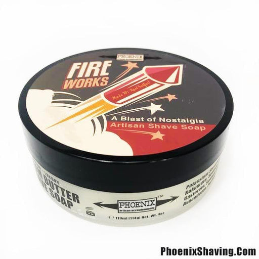 Fireworks : Artisan Shave Soap | Summer Seasonal Scent - Phoenix Artisan Accoutrements