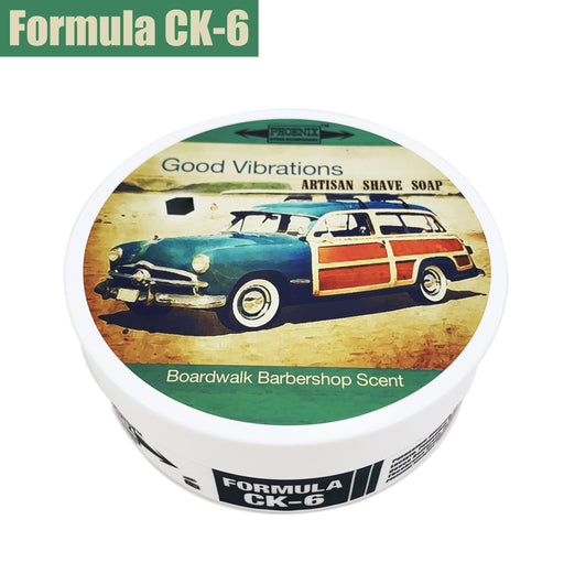 Good Vibrations Artisan Shaving Soap - Ultra Premium CK-6 Formula - 5 Oz - Phoenix Artisan Accoutrements
