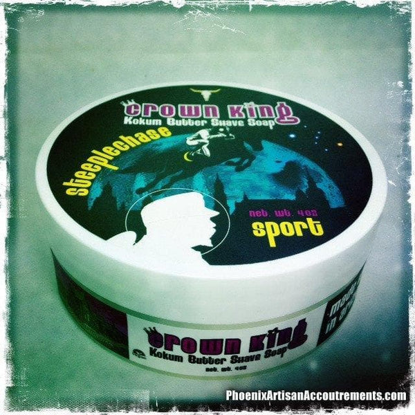 Steeplechase Sport - Crown King Kokum Butter Artisan Shave Soap - 4oz - Phoenix Artisan Accoutrements - 1