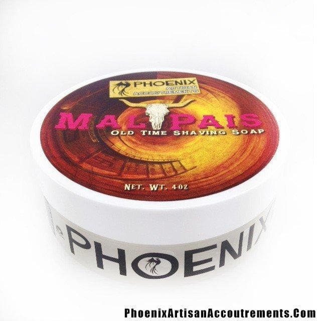 Mal Pais Shaving Soap - Mesquite, Leather, Black Pepper & More - Phoenix Artisan Accoutrements - Phoenix Artisan Accoutrements - 1