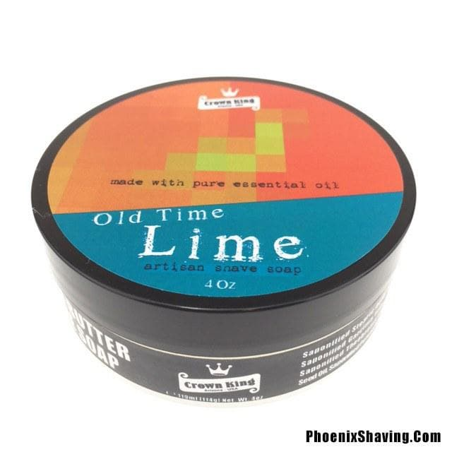 Old Time Lime Artisan Shave Soap - Made w/ 100% Essential Oil - Seasonal