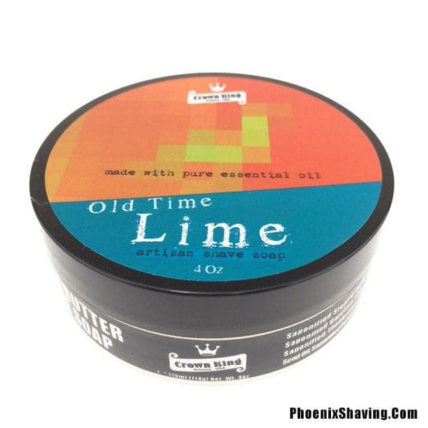 Old Time Lime Artisan Shave Soap - Made w/ 100% Essential Oil - Seasonal - Phoenix Artisan Accoutrements