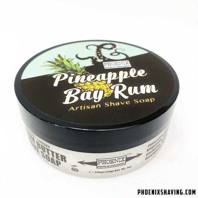 Pineapple Bay Rum Artisan Shaving Soap - Zero Clove! - Phoenix Artisan Accoutrements
