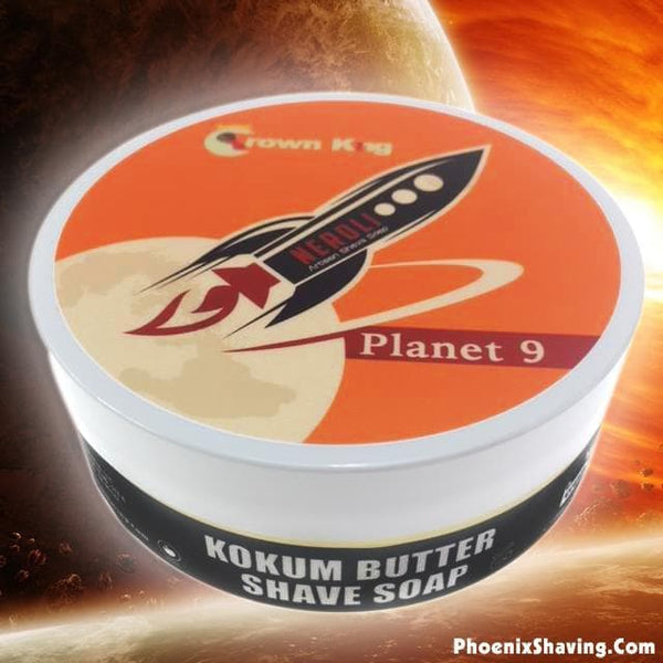 Planet 9 Crown King Artisan Shave Soap - The Rebirth of Neroli | Contains Neroli Absolute - Phoenix Artisan Accoutrements