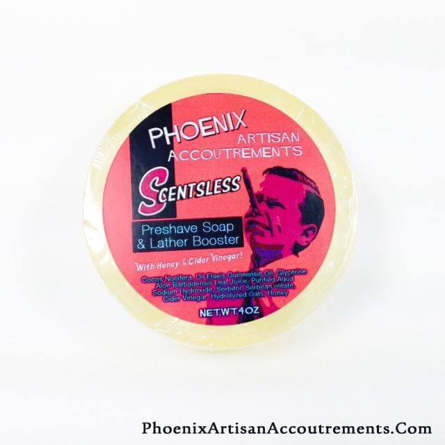Scentsless & MENTHOL FREE - Honey, Aloe & Cider Vinegar Pre-Shave Soap & Lather Booster
