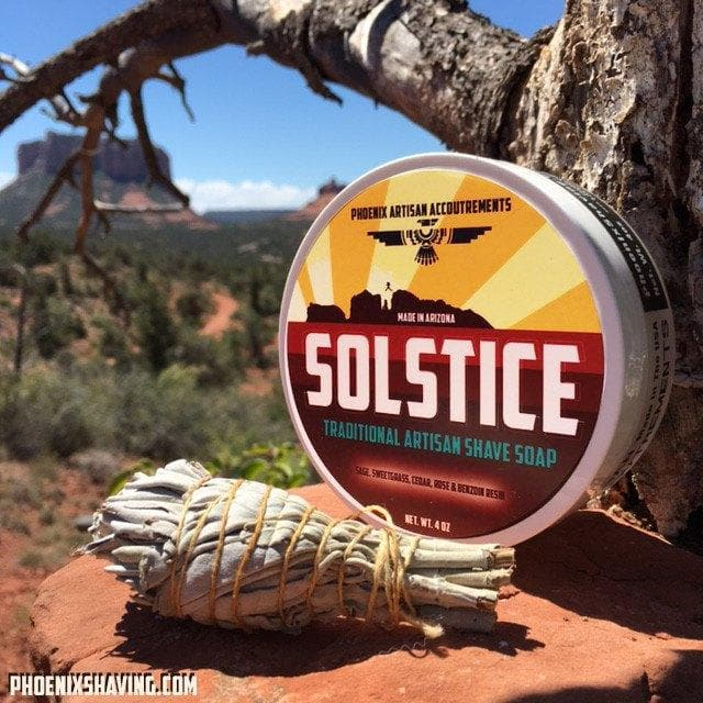 Solstice Shaving Soap 3.0- Desert Sage, Sweetgrass, Cedar, Rose Absolute and Benzoin Resin