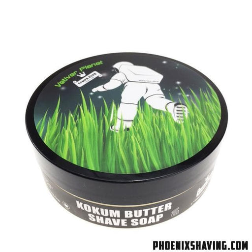 Vetiver Planet Artisan Shave Soap - Pure Essential Oils & Absolutes - Phoenix Artisan Accoutrements