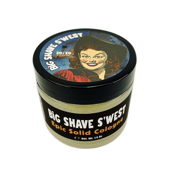 Big Shave S'west 20/20 Solid Cologne | Contains Prickly Pear Oil | A Western Attar - Phoenix Artisan Accoutrements