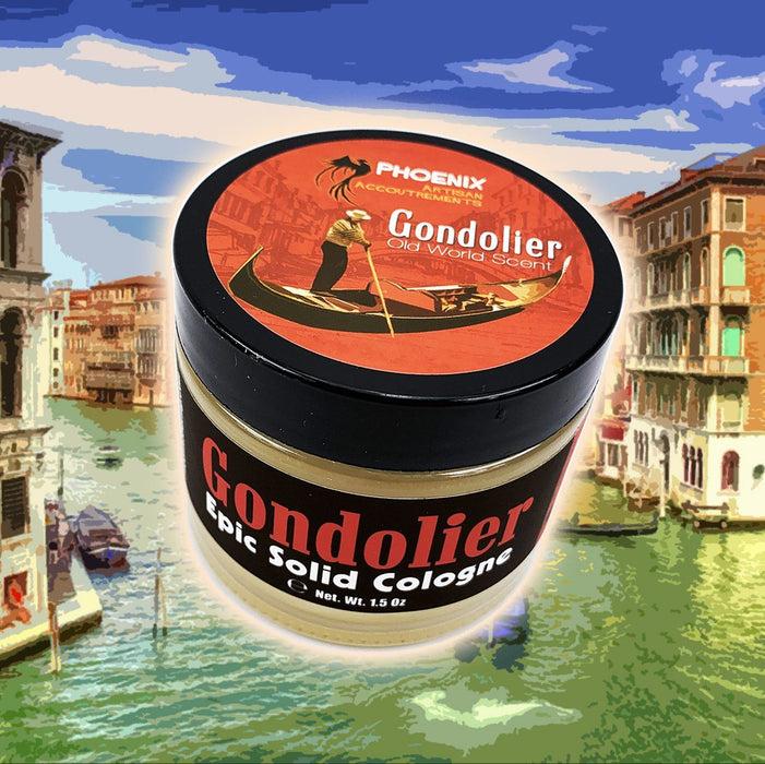 Gondolier Solid Cologne | Contains Prickly Pear Oil | Classic Old World Masculine - Phoenix Artisan Accoutrements