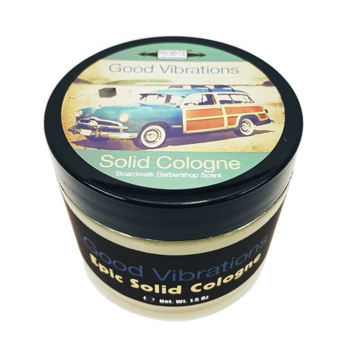 Good Vibrations Solid Cologne | Contains Prickly Pear Oil | Classic Boardwalk Barbershop Scent - Phoenix Artisan Accoutrements