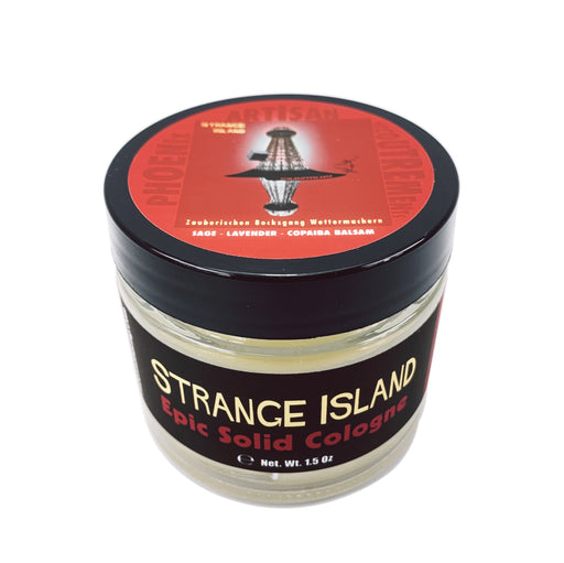 Strange Island Solid Cologne | Contains Prickly Pear Oil | A Phoenix Shaving Classic Spring Seasonal - Phoenix Artisan Accoutrements