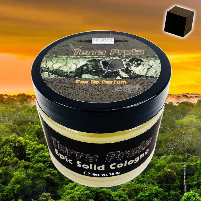 Terra Preta Solid Cologne | Contains Prickly Pear Oil | The Scent of Fresh, Dark, Earthy Soil - Phoenix Artisan Accoutrements