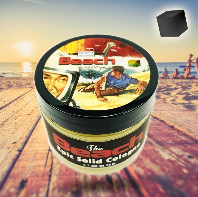 The Beach Solid Cologne | Contains Prickly Pear Oil | Classic 80's Beach Nostalgia - Phoenix Artisan Accoutrements