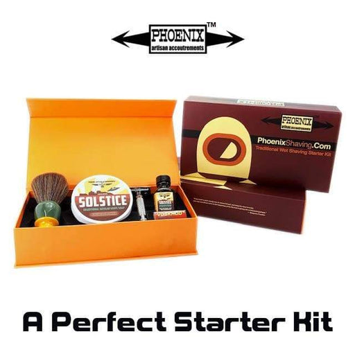 Phoenix Shaving Traditional Shaving Starter Kit ~ CK-6 Solstice & Symmetry Straight Bar Set - Phoenix Artisan Accoutrements