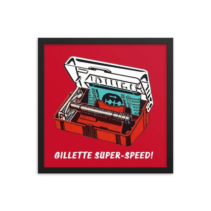Super Speed Framed Print - Phoenix Artisan Accoutrements