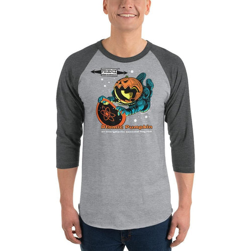 Killer Atomic Pumpkin Baseball Shirt! 3/4 sleeve raglan shirt - Phoenix Artisan Accoutrements