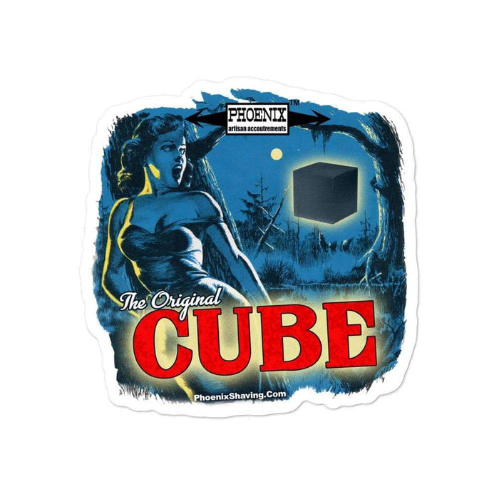 The Original CUBE Vinyl Sticker | Available in 3 Sizes! - Phoenix Artisan Accoutrements