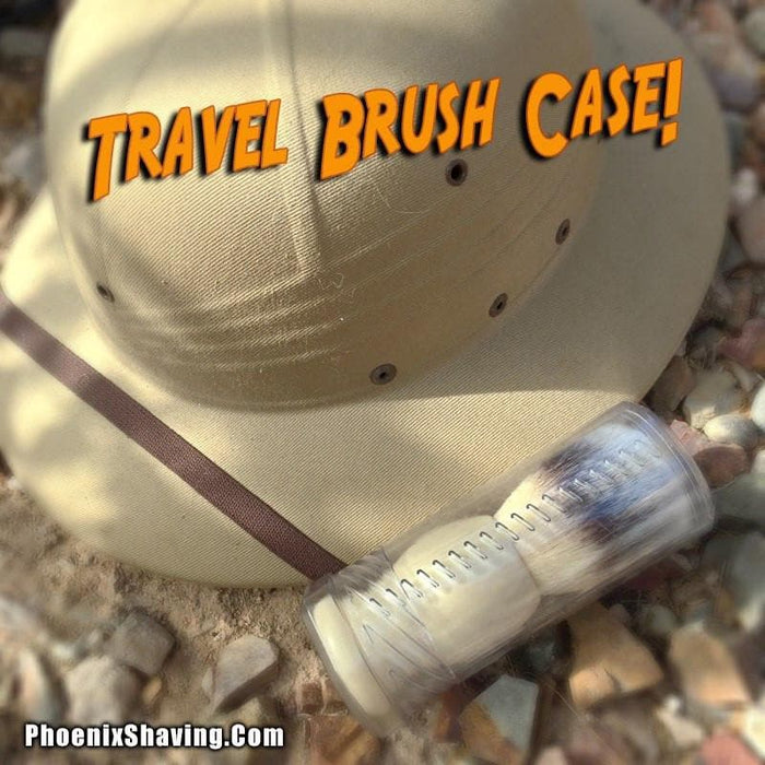 Durable Plastic Travel Brush Case | Small/Medium - Phoenix Artisan Accoutrements