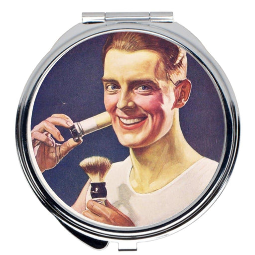 Vintage Shave Ad Travel Mirror - Phoenix Artisan Accoutrements