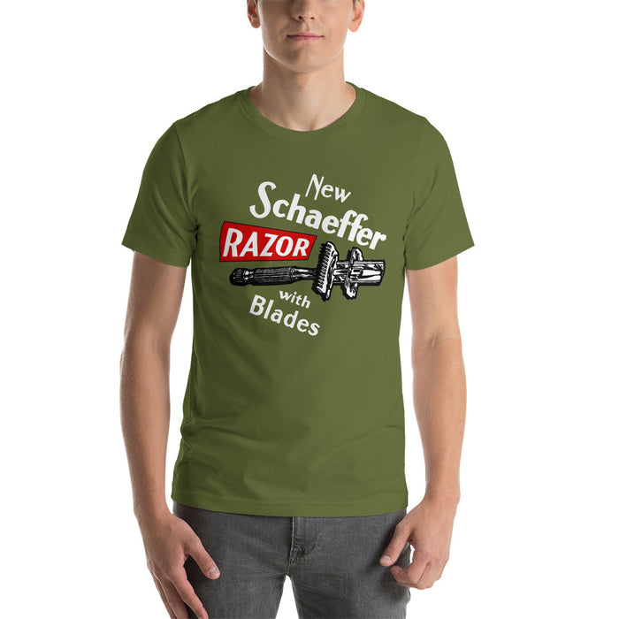 Vintage Schaeffer Razor Short-Sleeve Unisex T-Shirt | Available in Multiple Colors! - Phoenix Artisan Accoutrements