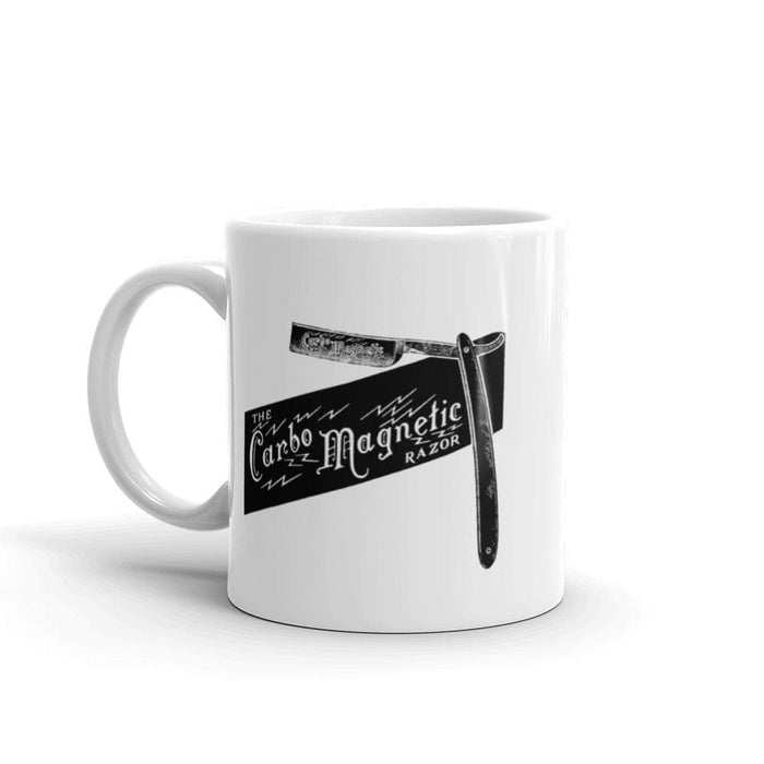 Vintage Carbo Magnetic Straight Razor Coffee Mug - Phoenix Artisan Accoutrements