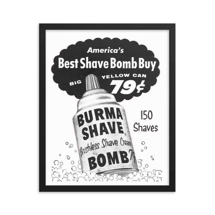 Vintage Shave Cream Framed Print - Phoenix Artisan Accoutrements