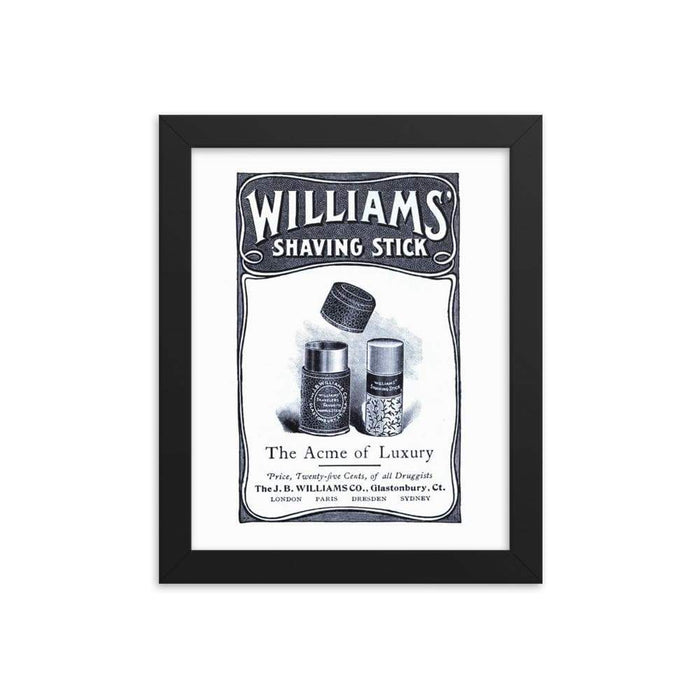 Vintage Shave Stick Advert Framed Print 3 - Phoenix Artisan Accoutrements