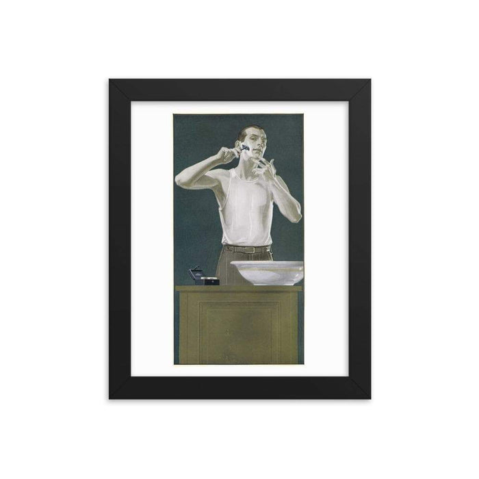 Vintage Shaving Advert Framed Print - Phoenix Artisan Accoutrements