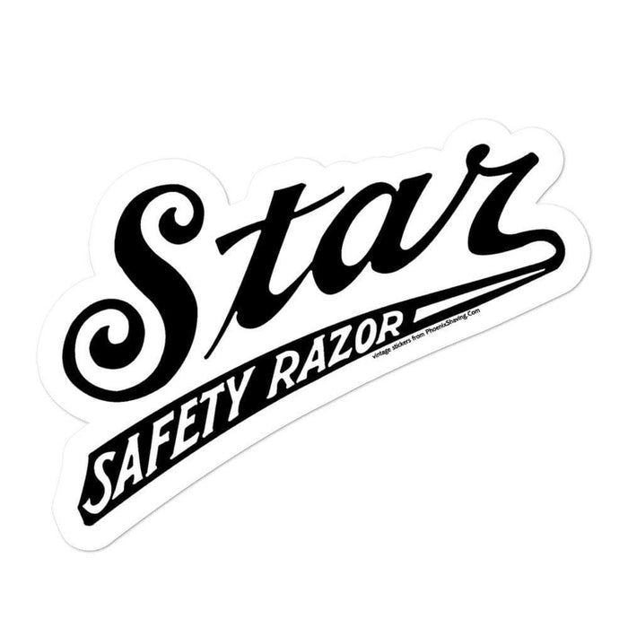 Vintage Star Safety Razors Vinyl Bubble-free stickers - Phoenix Artisan Accoutrements