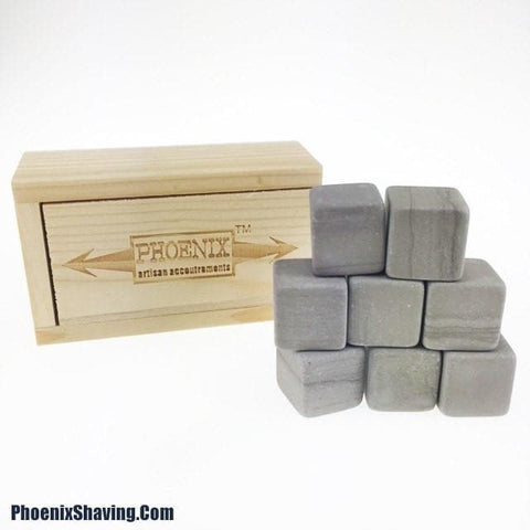 Phoenix Whiskey Stones - w/ wooden storage box - Phoenix Artisan Accoutrements