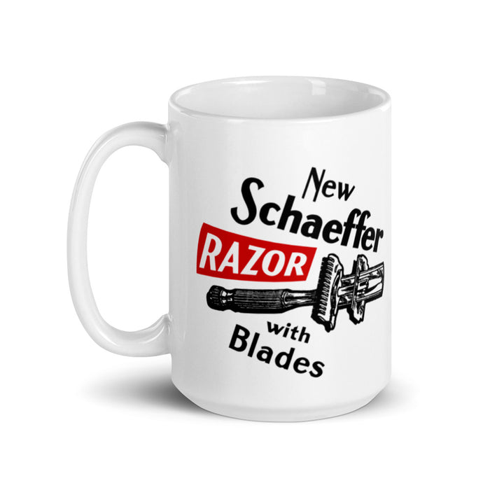 Vintage Schaeffer Safety Razor Ad Coffee Mug | Availalble in 2 Sizes! - Phoenix Artisan Accoutrements