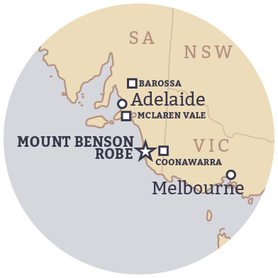 Small location map - Berrigan Wines
