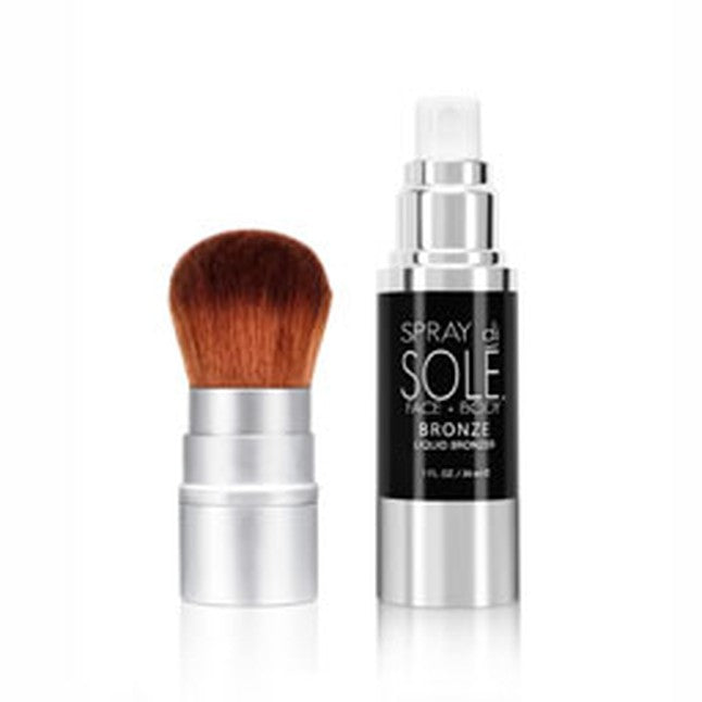 Liquid Bronzer Kit 30ml with Face Kabuki Brush Starter Kit