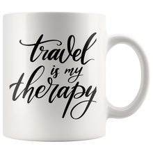Load image into Gallery viewer, Travel is my Therapy Mug