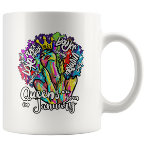 Queens are Born in January Mug