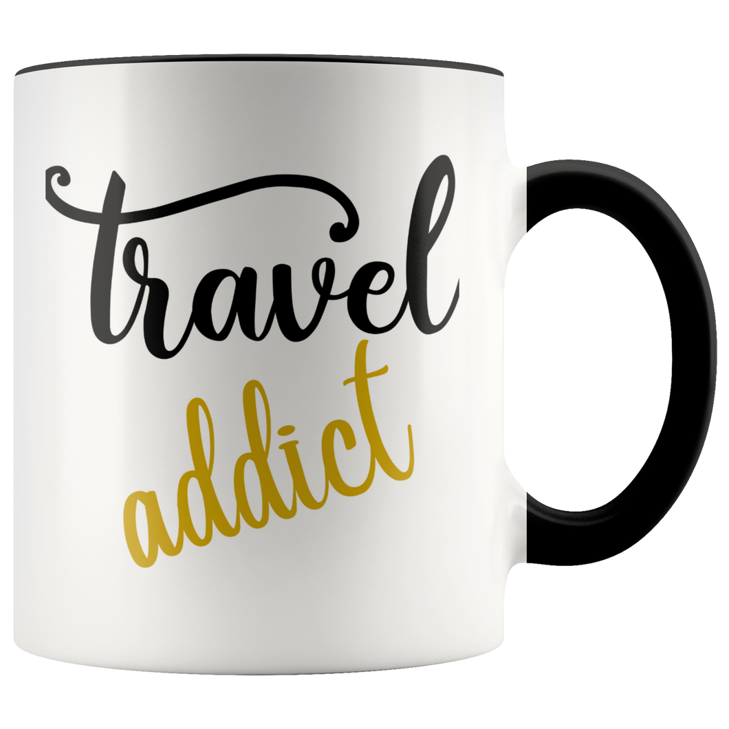 Travel Addict Mug