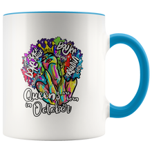 Load image into Gallery viewer, Queens Are Born In October Mug