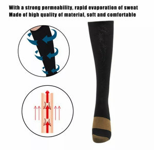 5 Pairs Of Copper Infused Compression Socks
