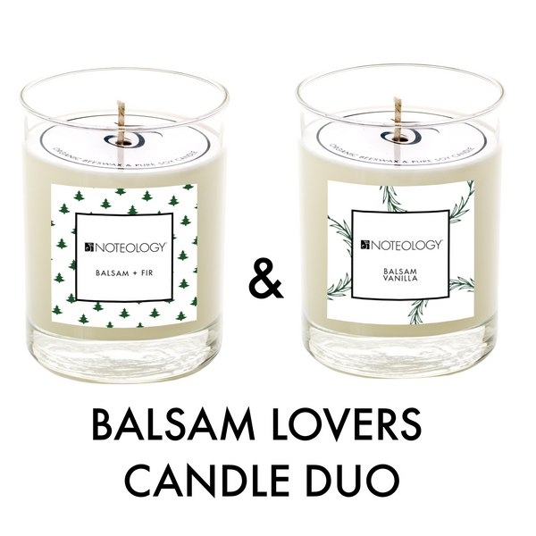 Balsam Lovers Candle Duo | Noteology