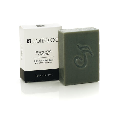Sandalwood Patchouli Shea Butter Bar Soap | Noteology