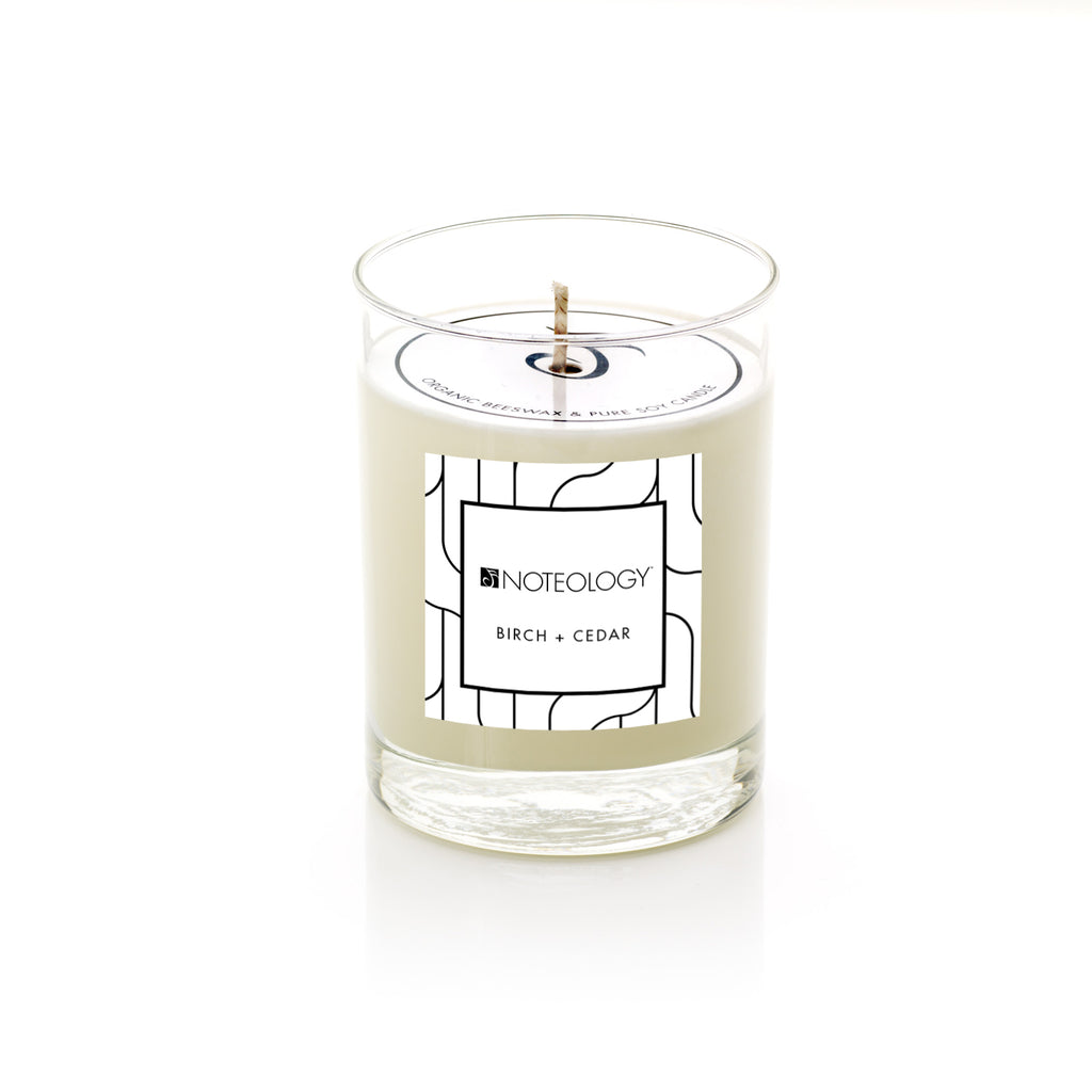 Birch + Cedar | Soy Candle | Noteology