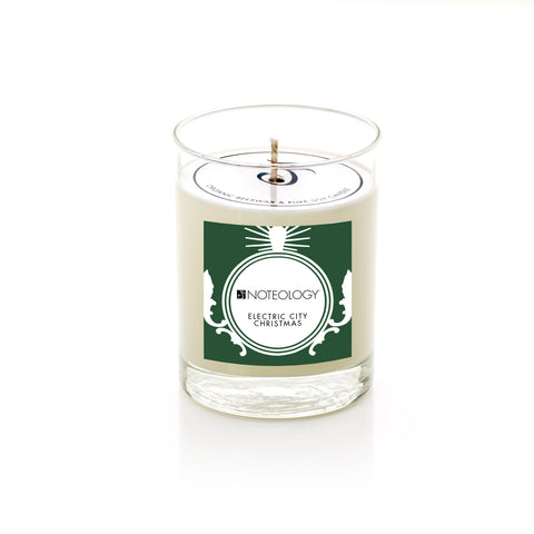 Electric City Christmas Soy Candle | Noteology