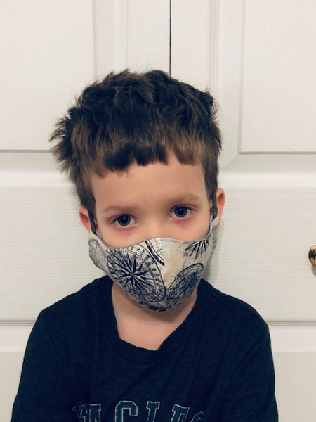 Children's Fabric Cotton Face Mask with Boy Pattern