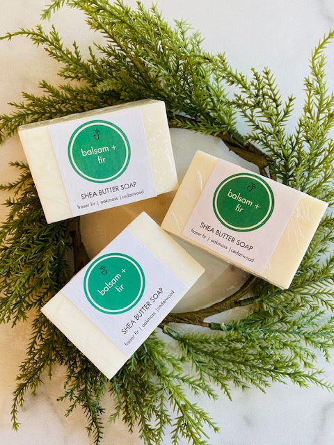 Balsam + Fir Shea Butter Bar Soap