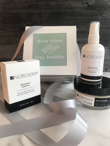 Keep Clean. Stay Healthy. Deluxe Gift Set.