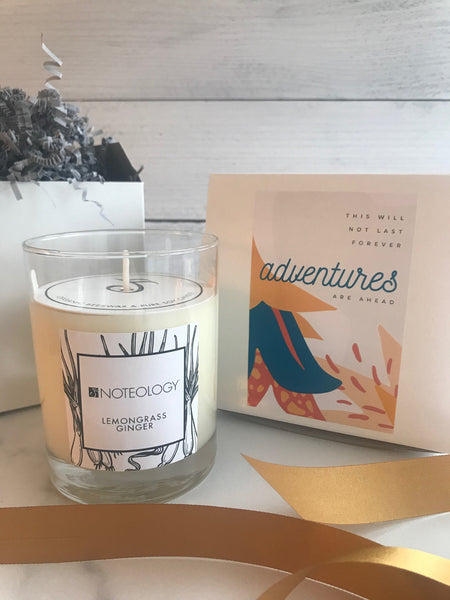 This will not last forever. Adventures are Ahead. Personalized Candle
